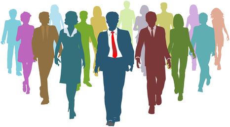 Empresarios diversos líderes del equipo de recursos humanos